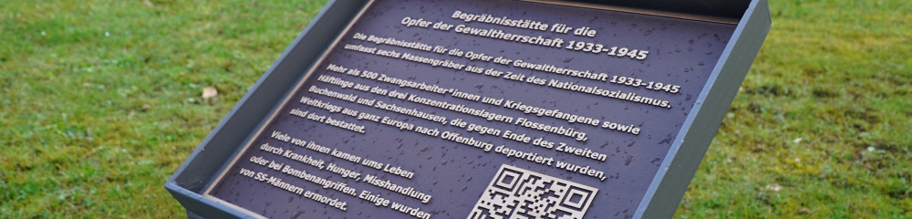 Gedenktafel Historischer Waldbachfriedhof_ Foto: C. Kessler
